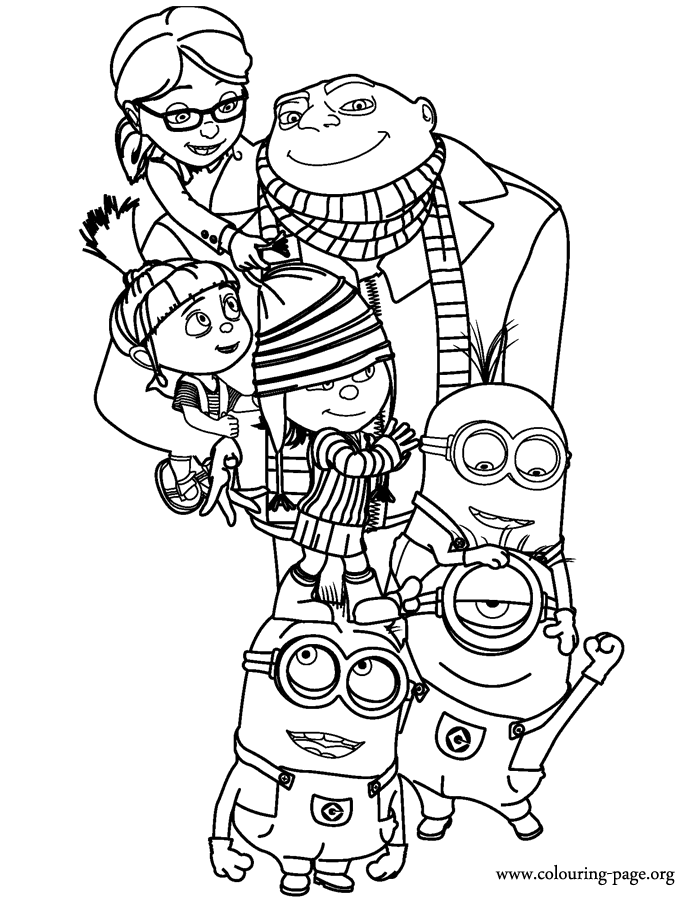 despicable me 2 coloring pages 01