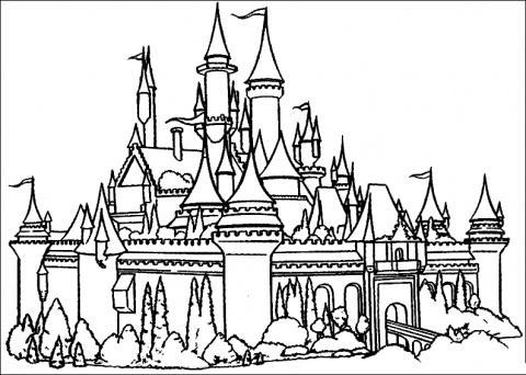Disneyland Castle Coloring Pages 01
