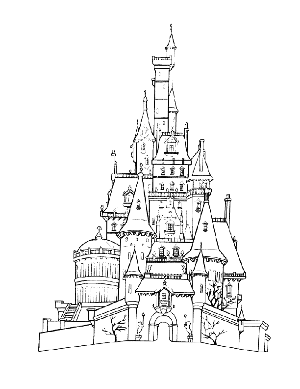 Disneyland Castle Coloring Pages