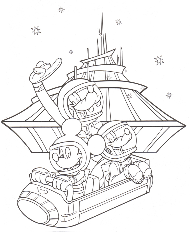 disneyland park coloring pages 01