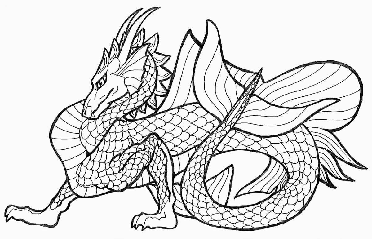 Dragons Coloring Pages 01