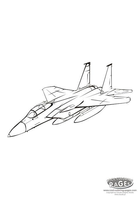 f-15 coloring pages