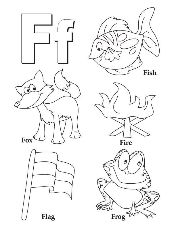 f coloring pages for preschool - photo #3