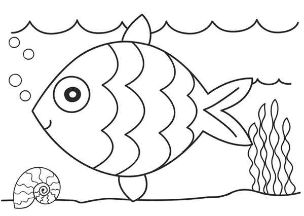 Fish coloring pages only coloring pages for Fish coloring pages for preschool