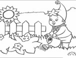 gardening colouring page