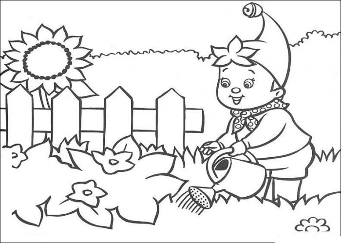Gardening Colouring Page 01