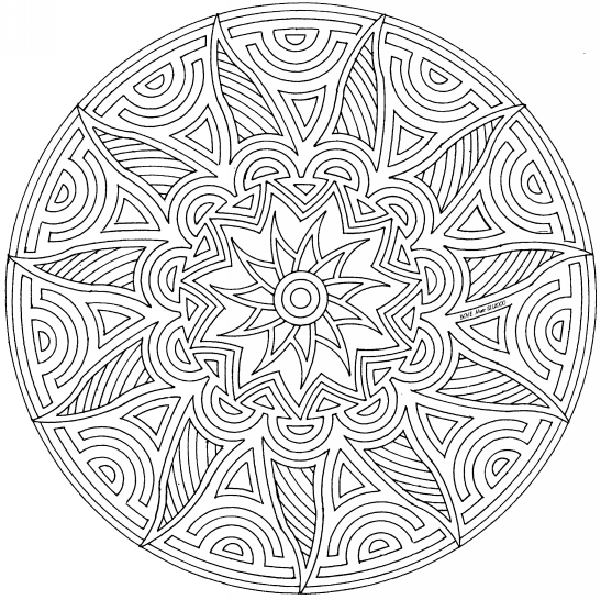 geometric coloring patterns for adults