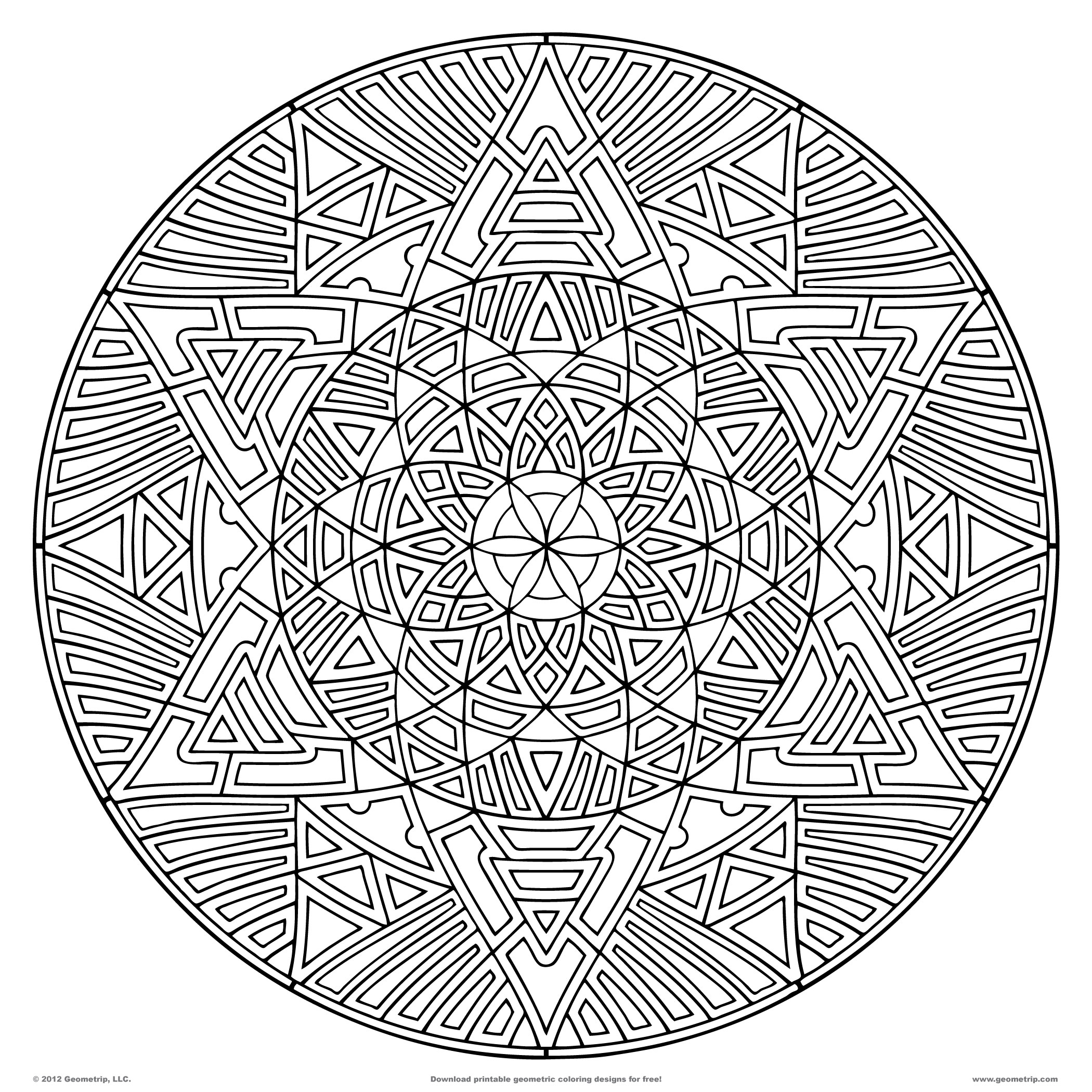 Coloring Pages Pdf : Free difficult ones for adults coloring pages