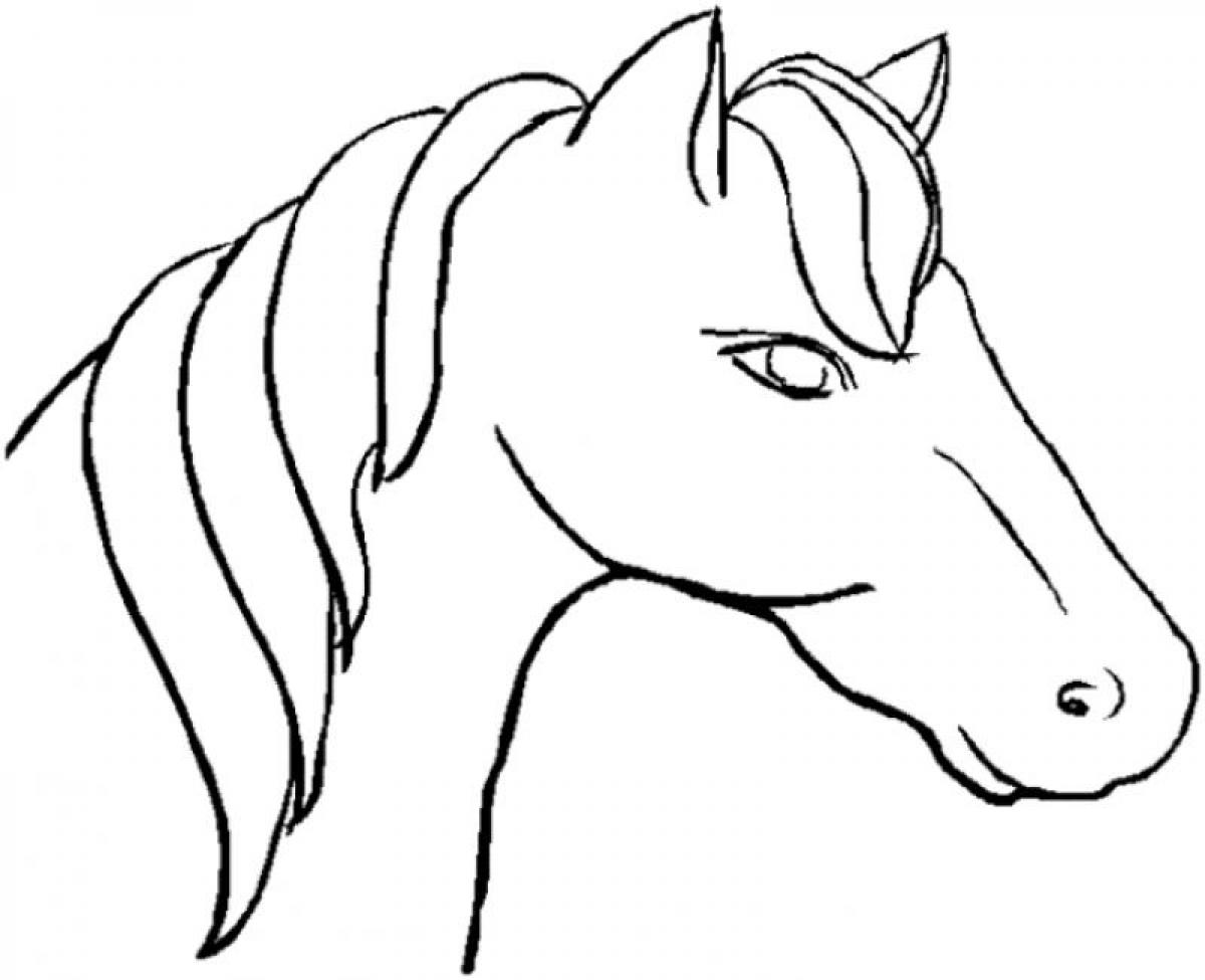 horse face coloring pages | Only Coloring Pages