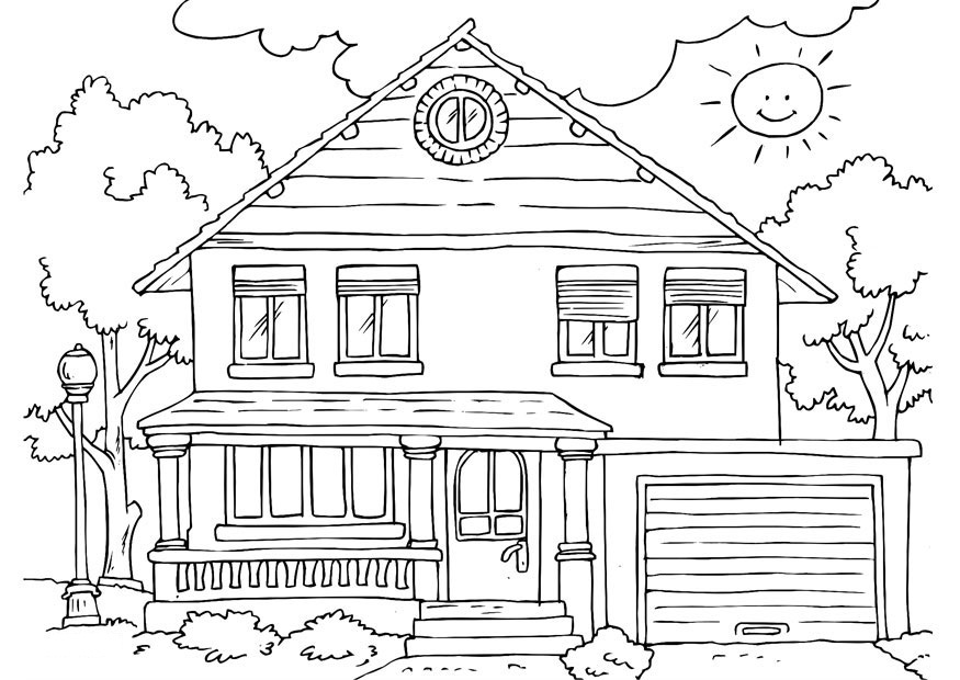 House Coloring Pages 01