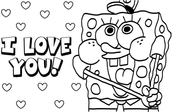 we love you coloring pages - photo#34