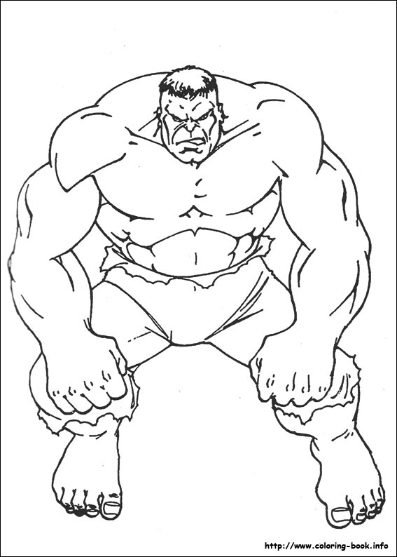 Incredible Hulk Coloring Pages Free Printable Online