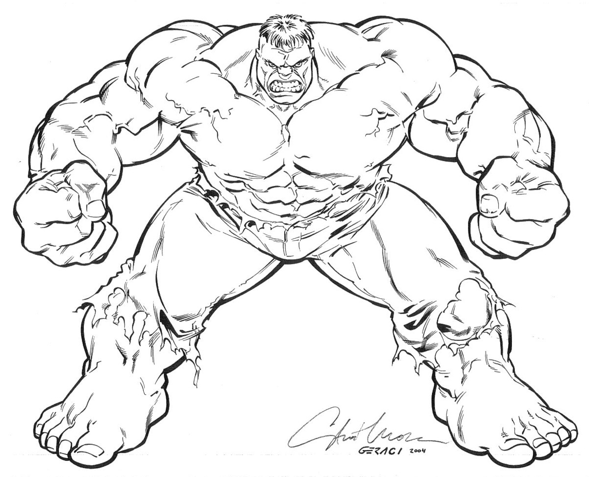 incredible hulk coloring pages