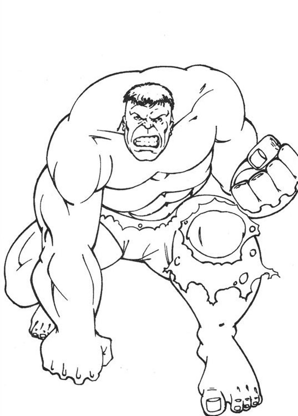 incredible hulk coloring pages only - Avengers Hulk Coloring Pages