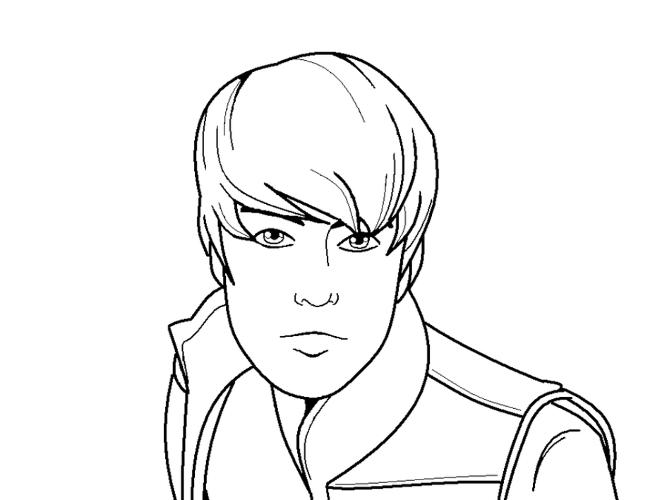 Justin Bieber Coloring Page 01