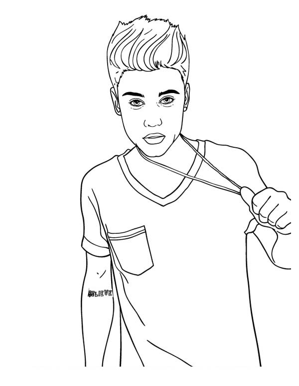 Justin Bieber Coloring Pages 2015 01