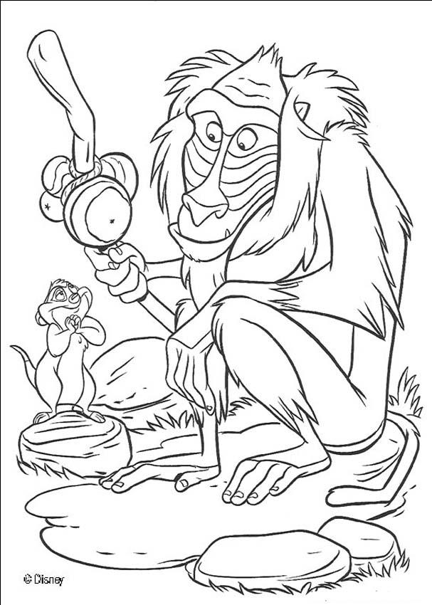 lion king disney coloring pages