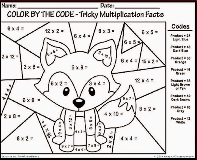 Worksheet Multiplication Fun Worksheets printable math multiplication coloring worksheets pages grade