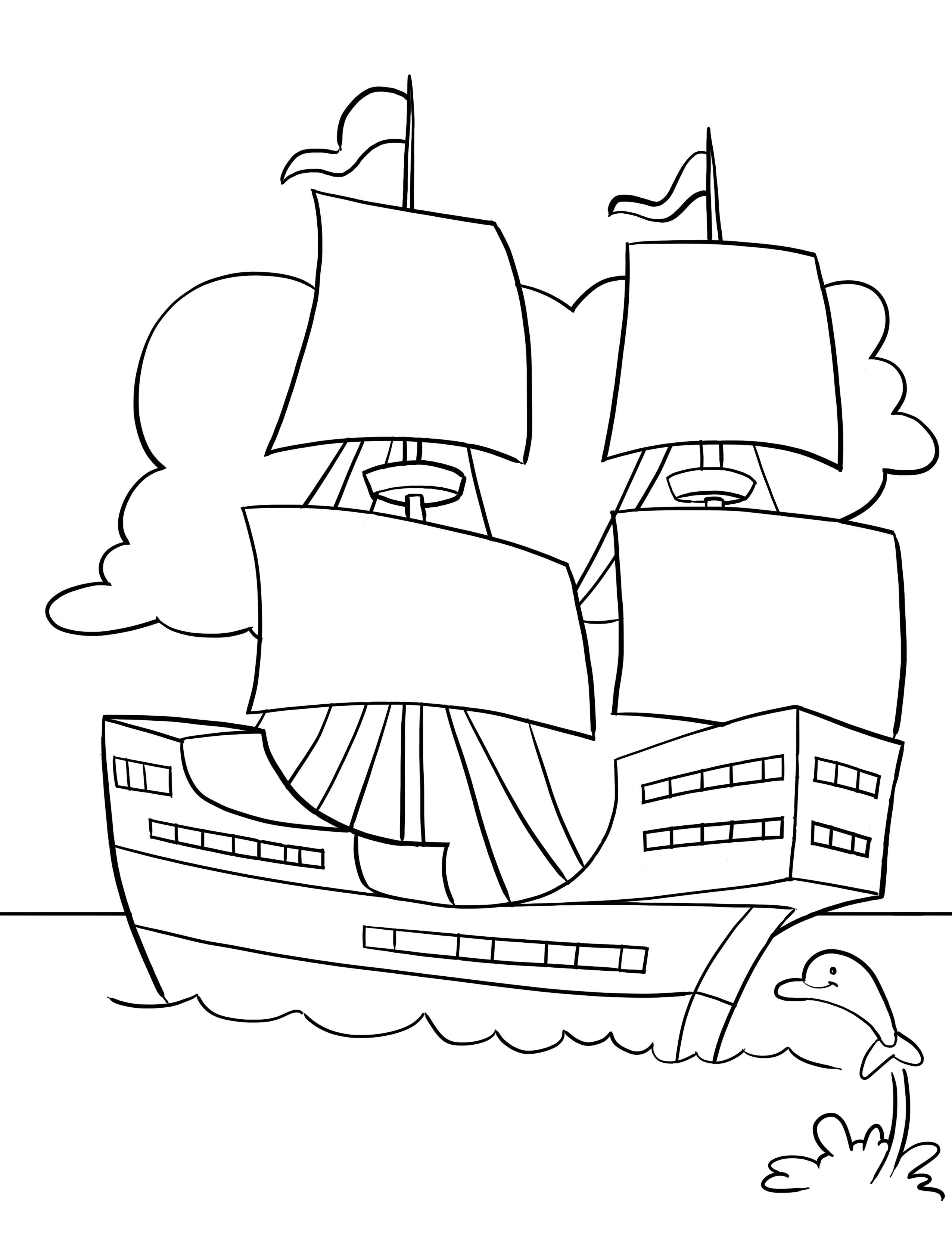 mayflower boat coloring pages - photo#30