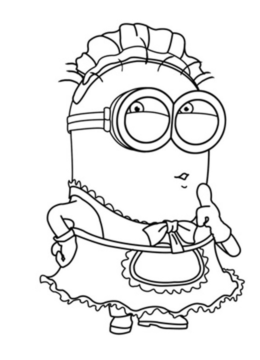 Minion coloring page only coloring pages for Coloring pages to print minions