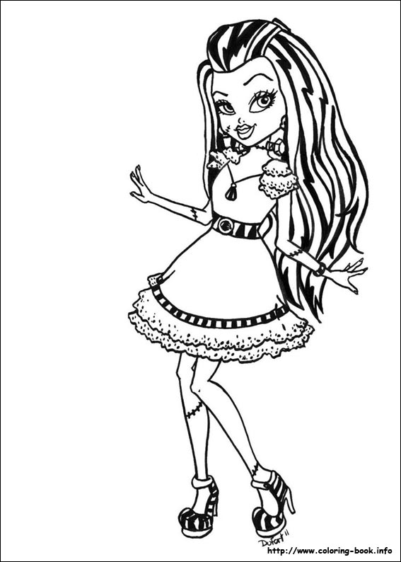 monster high coloring pages 01