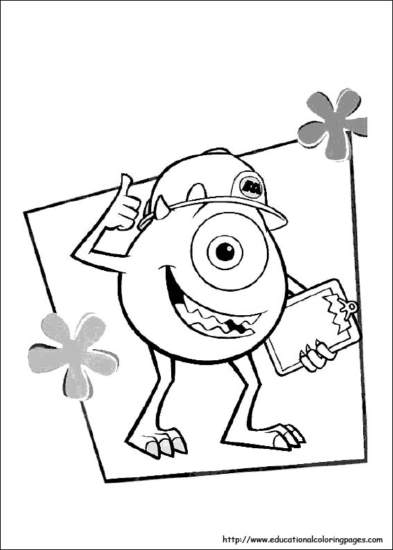 monsters inc coloring pages 07