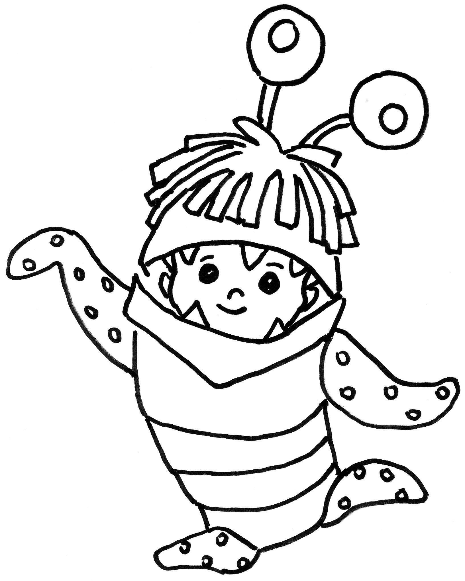 Monsters inc coloring pages only coloring pages for Monster coloring pages