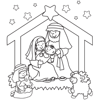 Nativity Coloring Pages 01