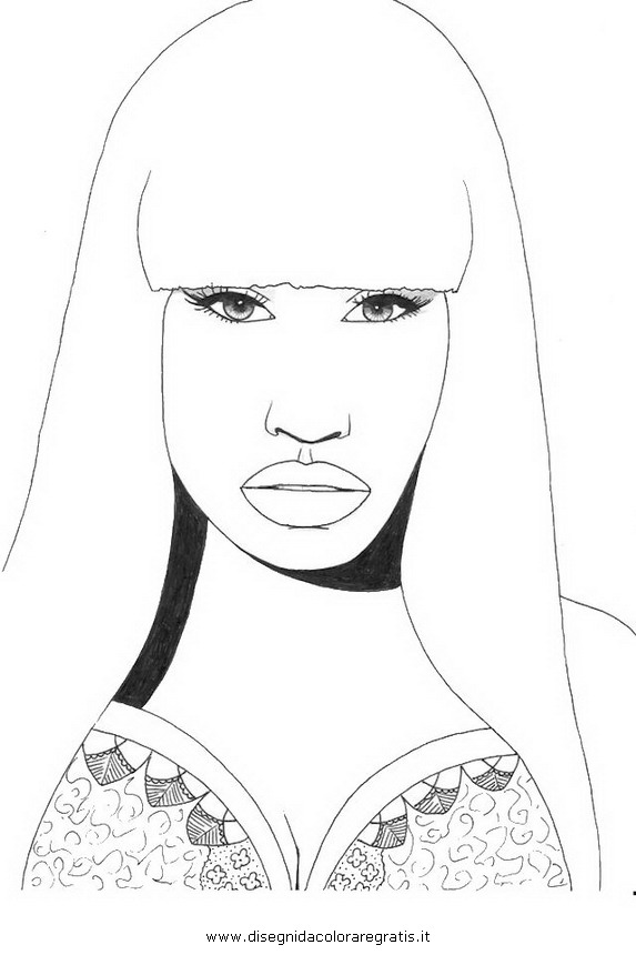 nicki minaj coloring pages 01