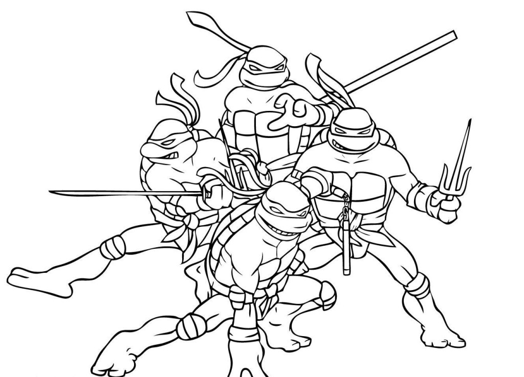 Ninja Turtles Coloring Pages 01