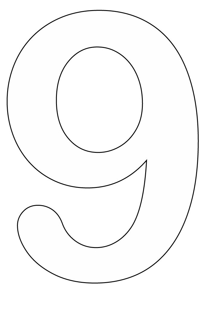 Number 9 Coloring Pages 01
