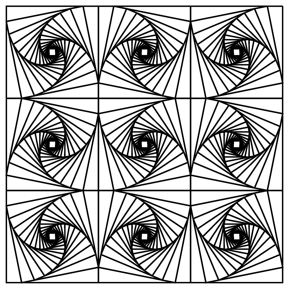 Optical illusion coloring pages 01