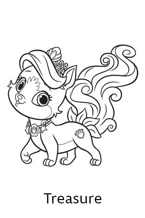Palace Pets Coloring Pages 01