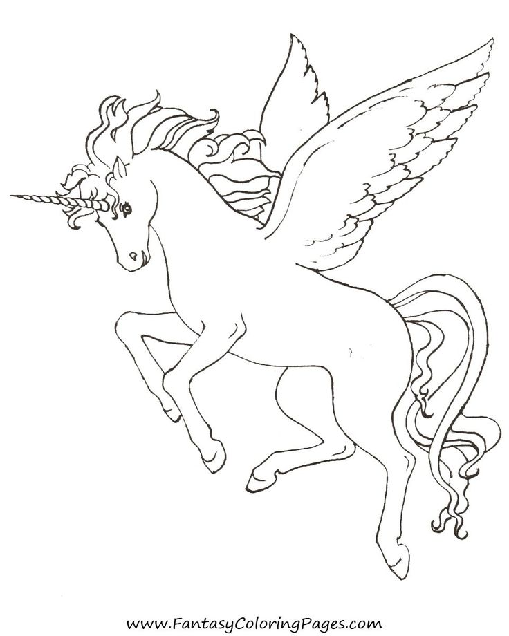 Pegasus Coloring Pages 01