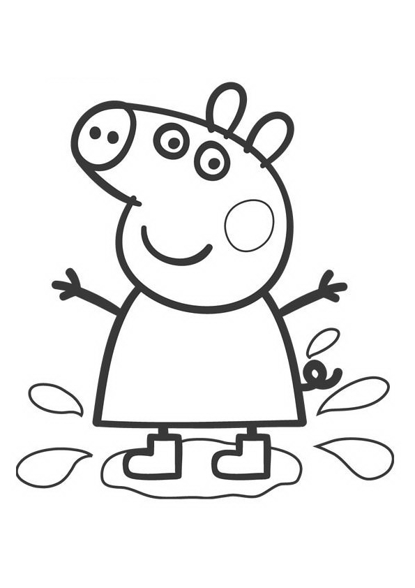 Peppa pig coloring pages only coloring pages for Coloring pages peppa pig