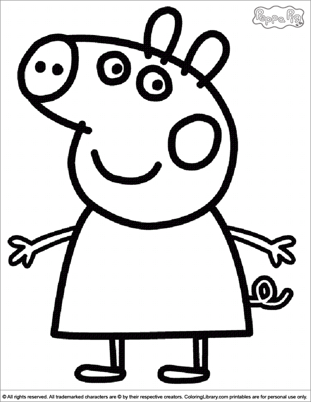 pig coloring pages for preschoolers - photo#8