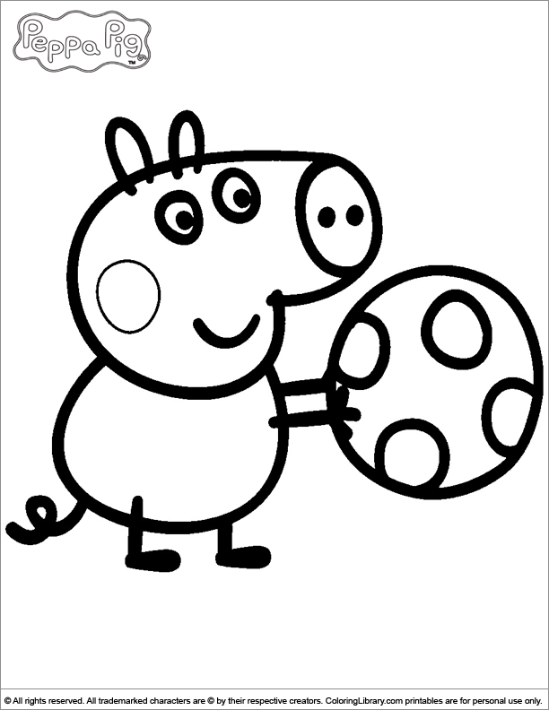 peppa pig coloring pages | Only Coloring Pages
