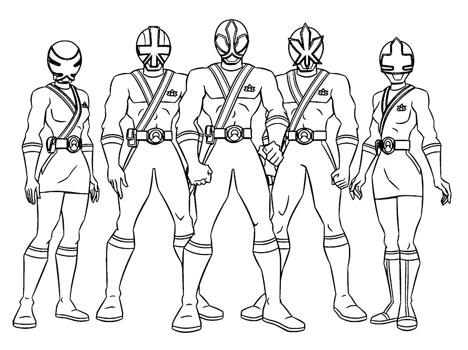 Power Rangers Coloring Pages 04