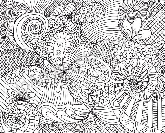printable coloring pages for adults patterns only