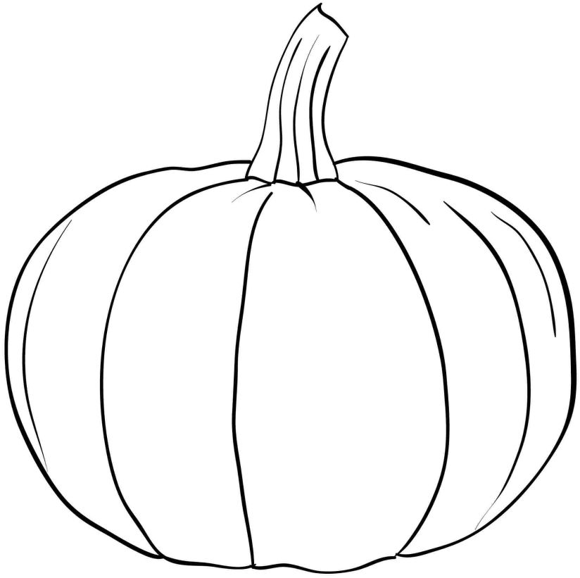 Pumpkin coloring pictures only coloring pages for Coloring pages pumpkin free