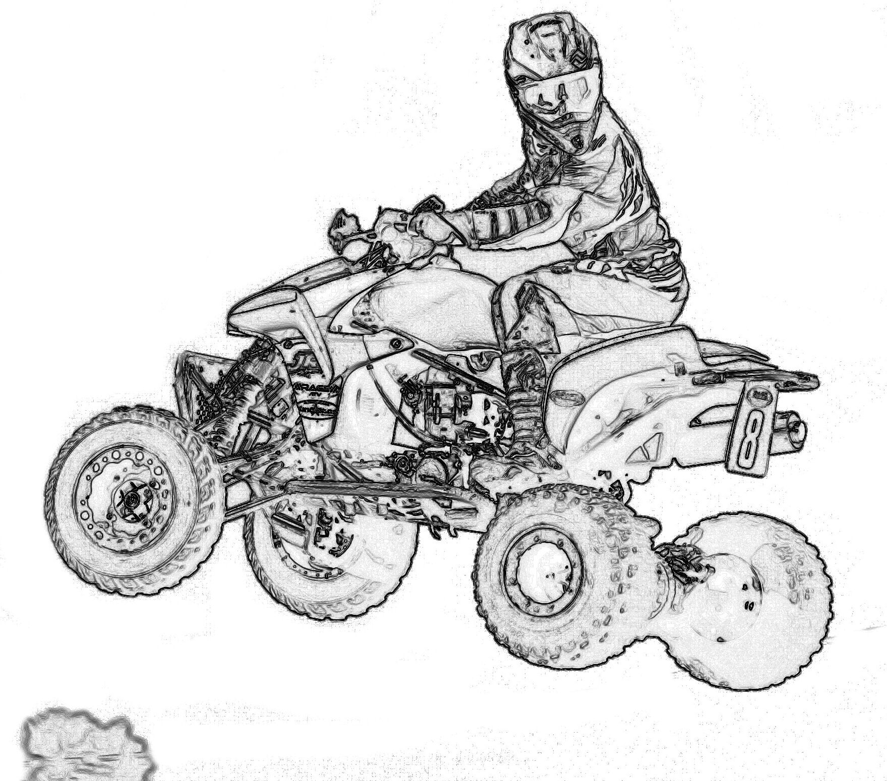 free printables fourwheeelers coloring pages - photo#30