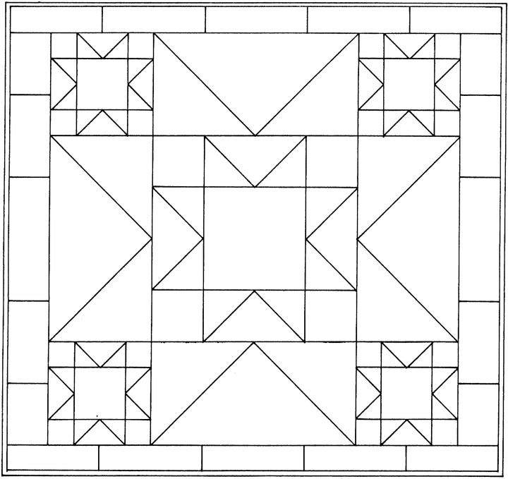 Quilt Patterns Coloring Pages Only