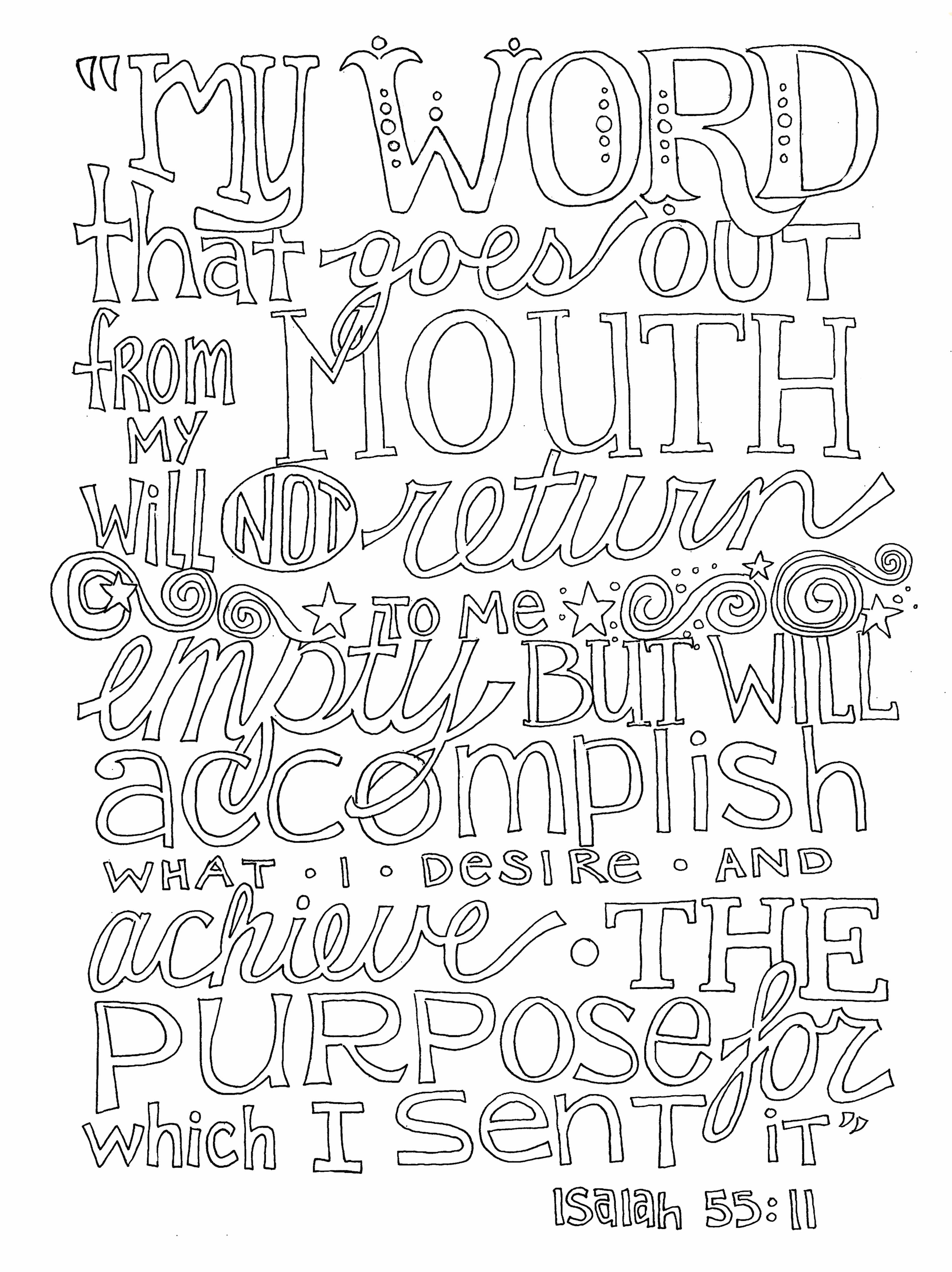 Free Bible Quotes For Adults Coloring Pages