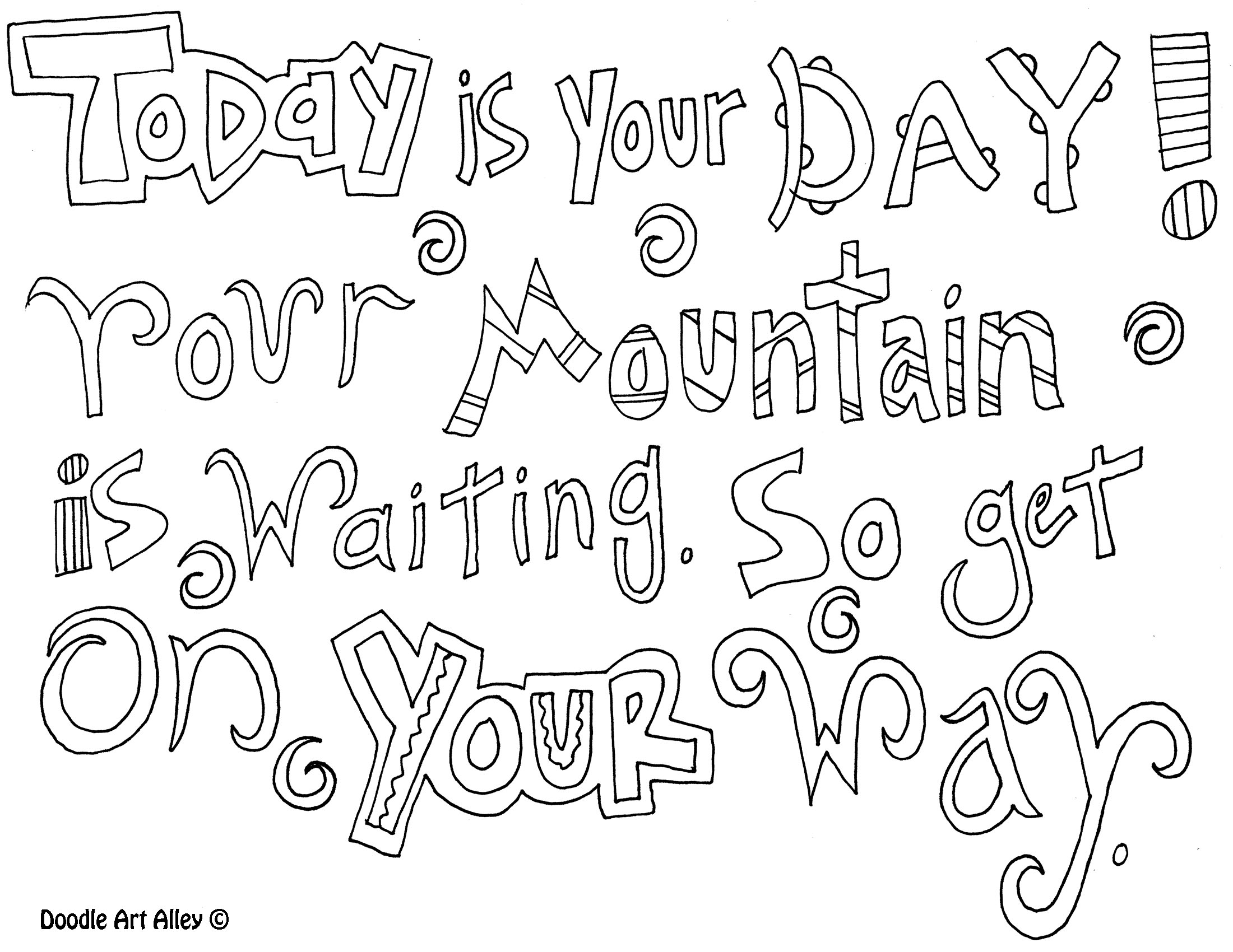 Colouring Pages For Adults With Quotes : Quote coloring pages only pagesonly