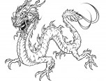 realistic coloring pages of dragons