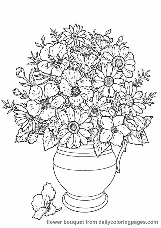 realistic flower coloring pages 01