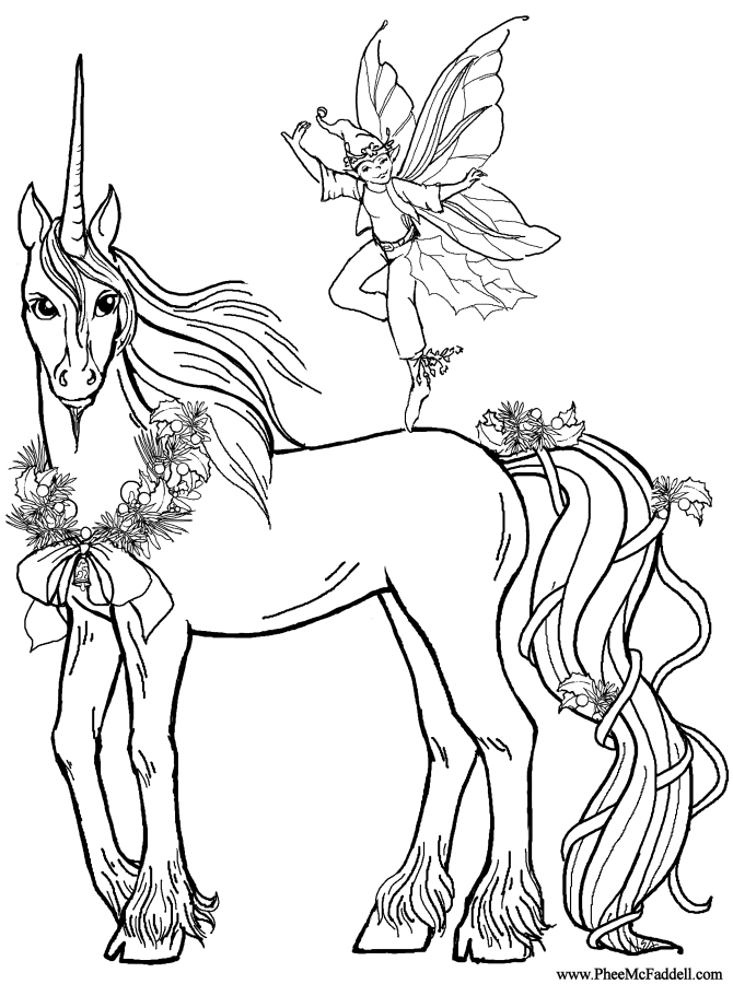 realistic unicorn coloring pages 01