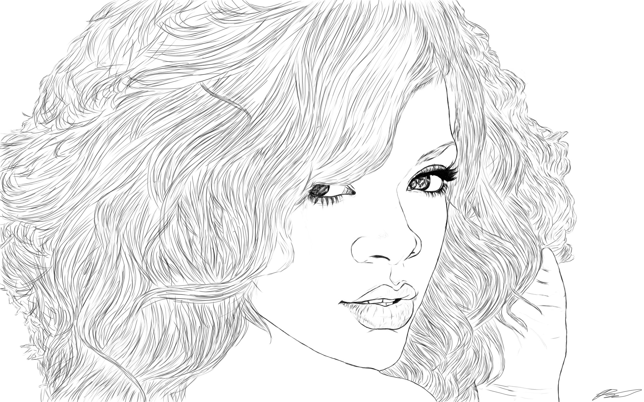 Rihanna Coloring Pages 01