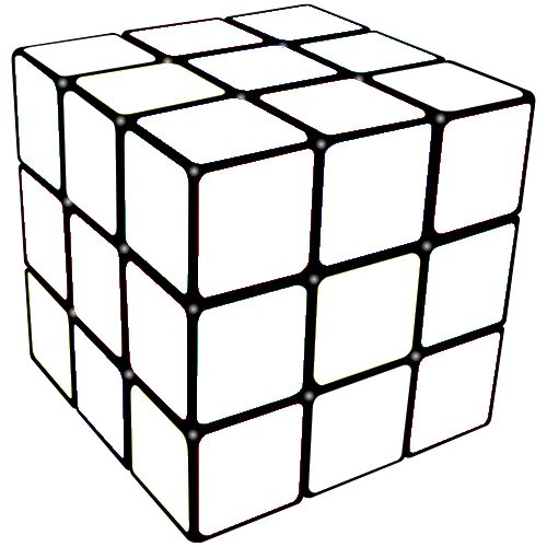 rubiks cube coloring page 01