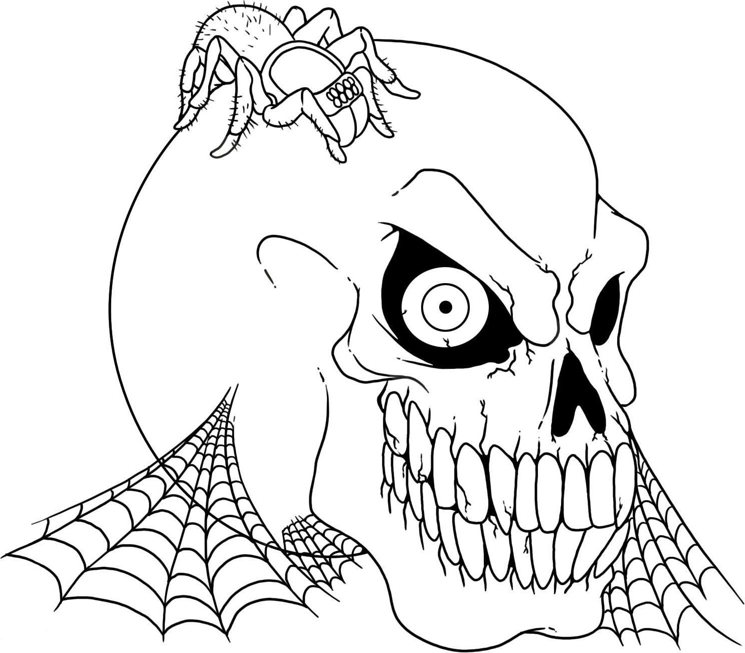 scary coloring pages 01